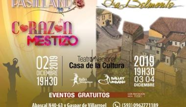 """BALLET NACIONAL DE ECUADOR PRESENTA """"PASILLANDO / CORAZÓN MESTIZO"""" Y """"LA BELMONTE"""""""